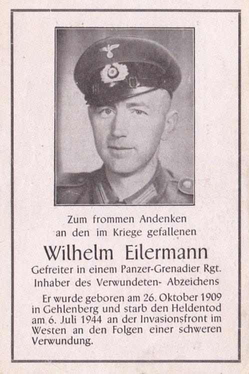 Panzer-Grenadier kia Invasionsfront (Normandie) death card