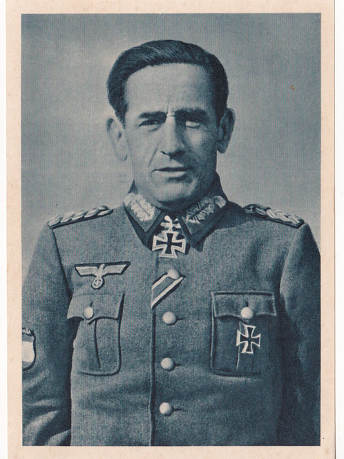 Postcard General Munoz Grandes, Spanish Blue Division