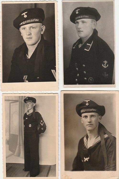 4x Kriegsmarine Portrait