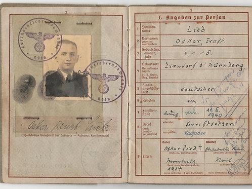 Wehrpass Oberfeldwebel Oskar Lieb, Luftwaffe-Nachrichten Rgt.202