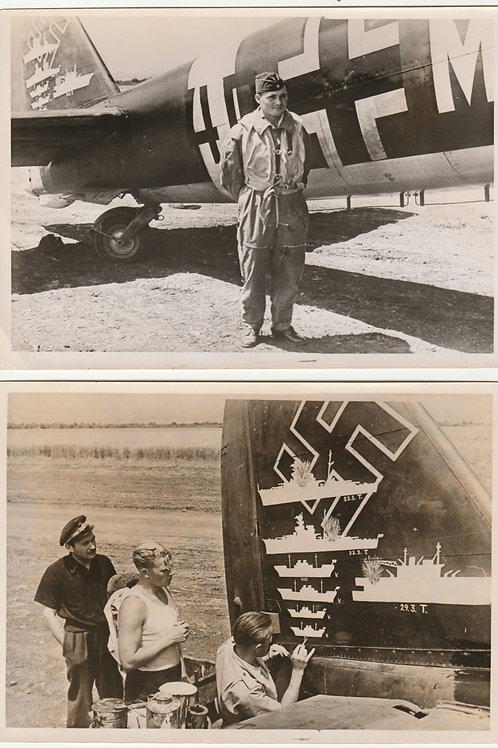 "2x Period Press Picture Kampfgeschwader 30 ""Adler"" Juni 1941"