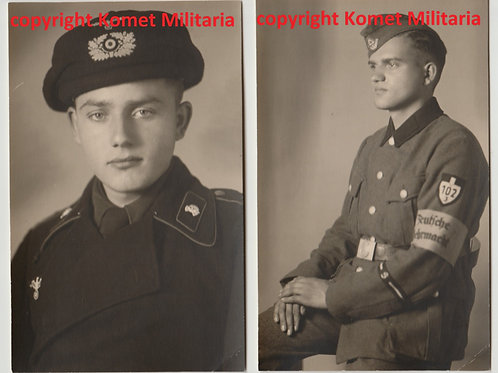 2x Portrait same soldier Panzer with Panzer Beret/RAD
