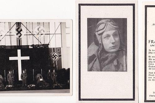 2x death cards+ honor guard picture Bordfunker Franz Gassmann