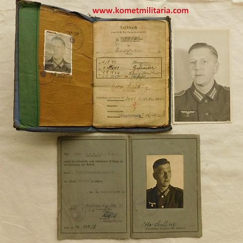 Soldbuch+Führerschein Fallschirmjäger Regiment von Alvensleben Holland 1945
