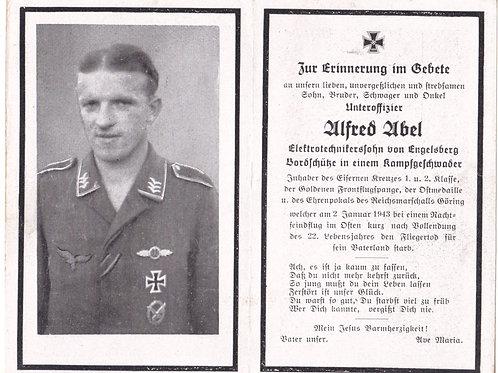 Sterbebild- death card Pilot Honor Goblet/ Ehrenpokal holder