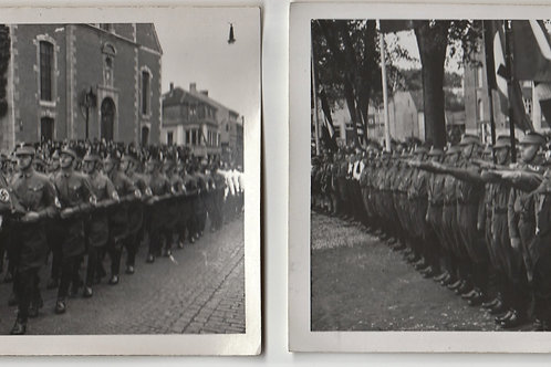 2x Postcard sized Picture SA Parade Eupen, Belgium