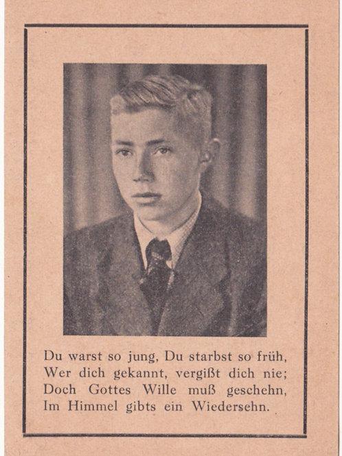 SS-Mann kia Invasionsfront July 1944 death card