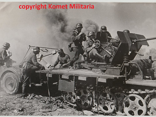 orig. Presse Foto Gefechtsübing  einer Heeres Flak-Kompanie
