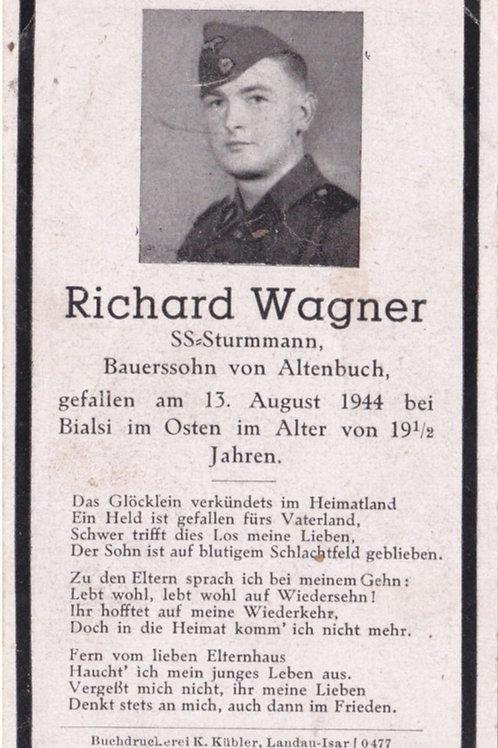 SS Sturmmann KIA death card
