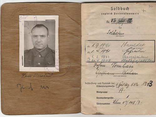 Heer Soldbuch Stabsgefreiter Feldlazarett 552, Lapplandschild Holder