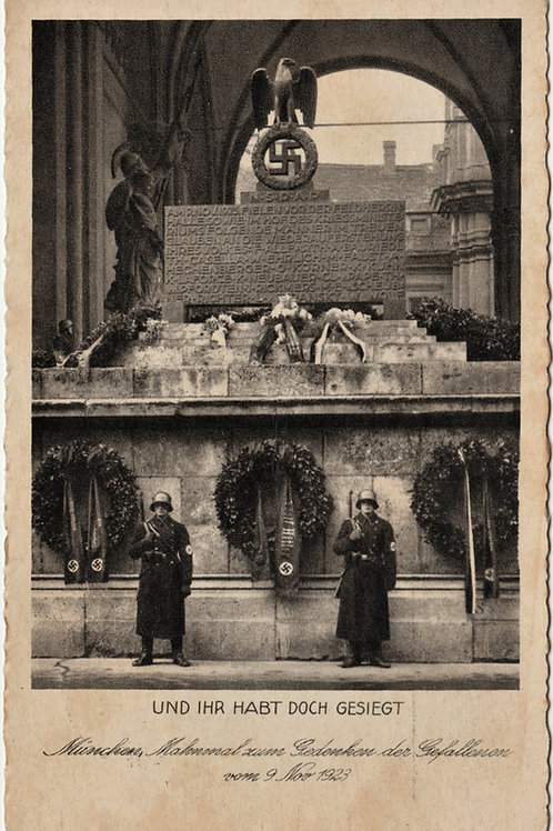 Postcard/Postkarte Feldherrnhalle Monument