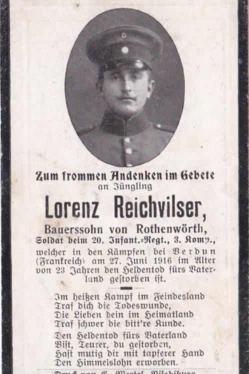 sterbebild/ death card 1916 Verdun KIA death card