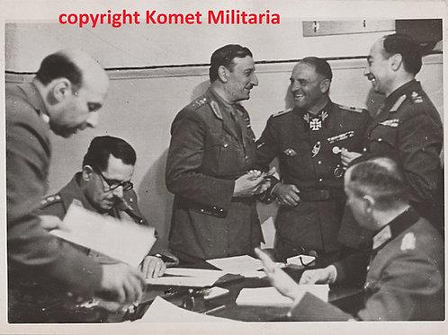 Original Period Press Picture Sepp Dietrich Greek Capitulation