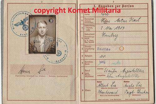 Wehrpass Hans Sie 14. Pz-Jg Inf. Reg. 376 Belgium-France-Russia