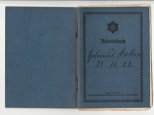 Arbeitsbuch für Bergleute rare 1937 issue