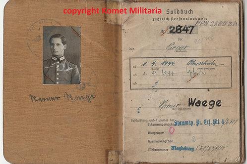 Soldbuch Gefreiter Landesschützen Bataillon 735 Brüssel