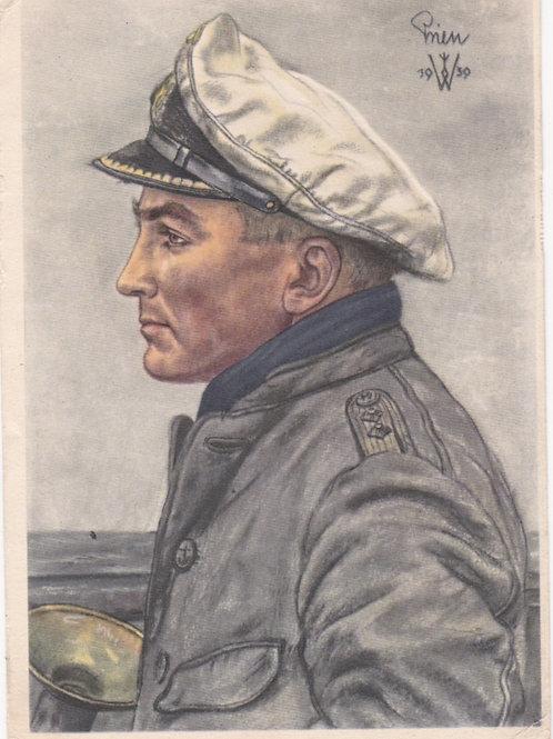 Postcard VDA: Kapitänleutnant Prien