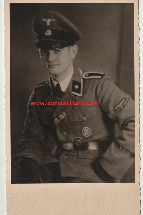 SS Portrait Scharführer Wiking Cuff Title+awards