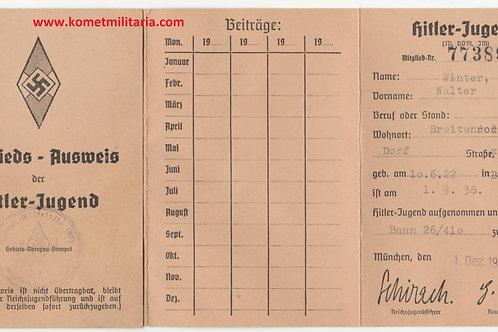 Membership card Hitlerjugend: Gebiet 23 Mittelelbe