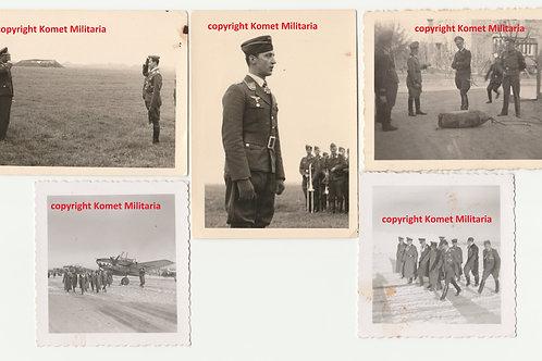 """5x private picture RK Träger Heinz Nacke ZG 76 """"Haifischgeschwader"""""""