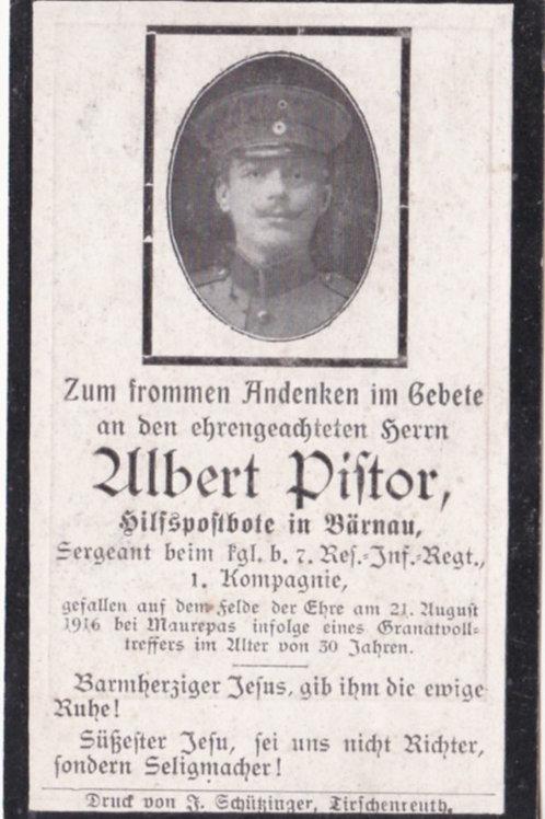 sterbebild / death card 1916 Maurepas KIA death card