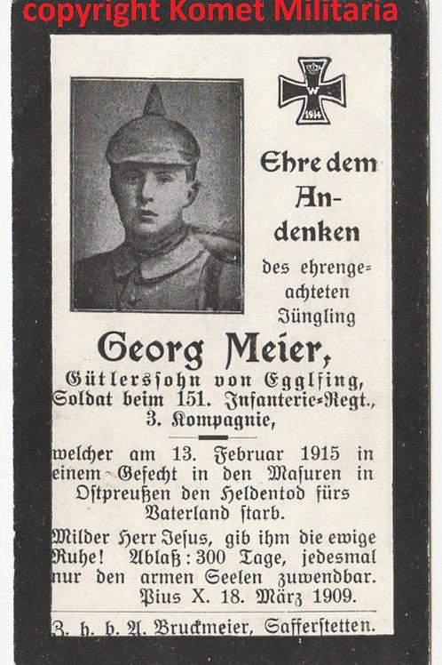 WWI sterbebild-death card with Pickelhaube