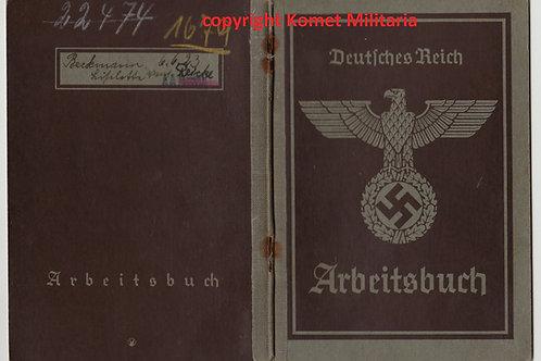 Arbeitsbuch female workerJunkers Flugzeugwerke Dessau