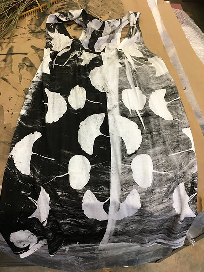BB Doll Linen Gingko Print Dress