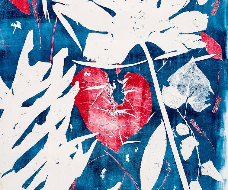 Botanical mono-print textiles ©eveskywalker2019