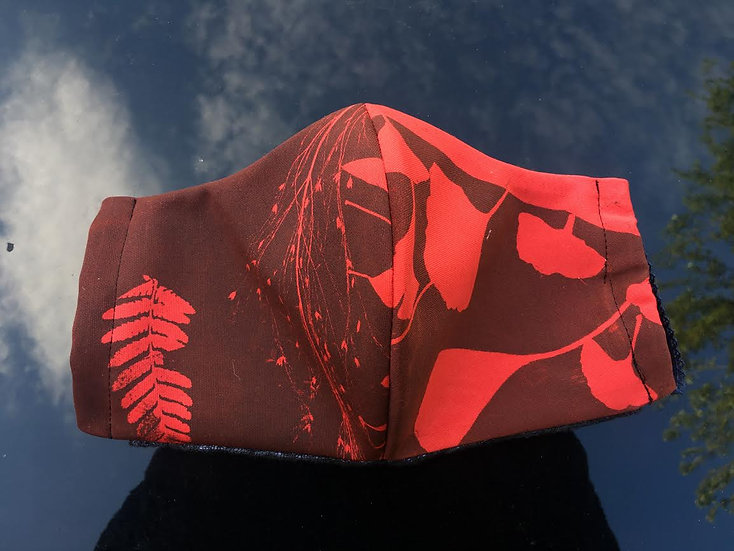 Scuba & Cotton Botanical Mono-Print Mask