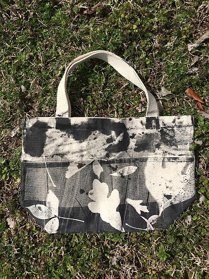 Botanical Print Cotton Canvas Tote
