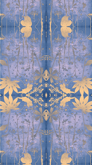 """Golden Dawn"" Botanical Print Wallpaper"