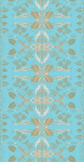 Billie Faye & Paula's Fern Turquoise Foil