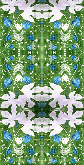 """Hans' Garden"" Botanical Print Wallpaper"