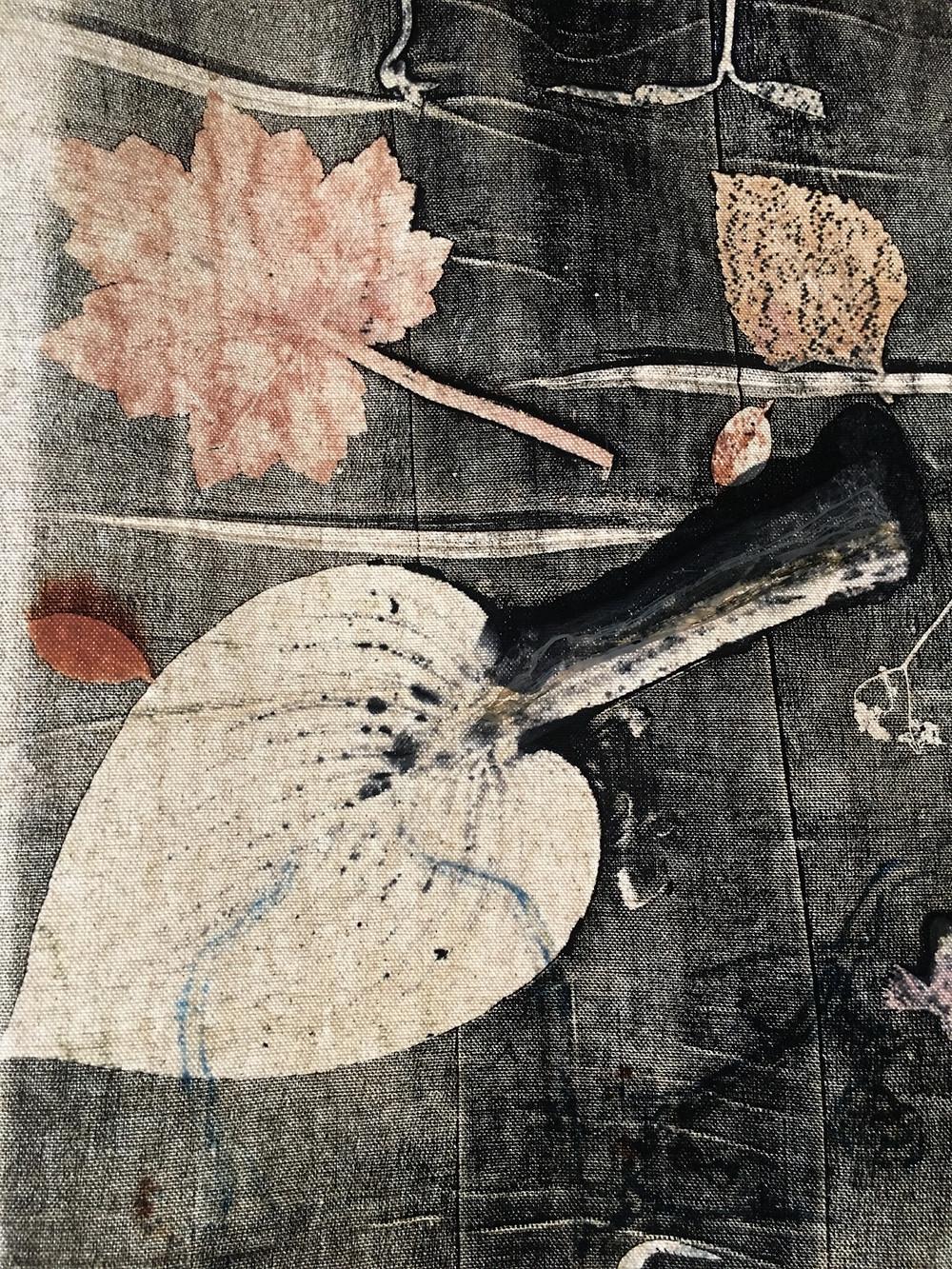 Botanical Mono-Print on Canvas