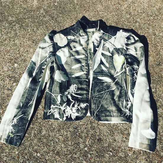 Up-cycled Vintage Halston Botanical Print Jacket
