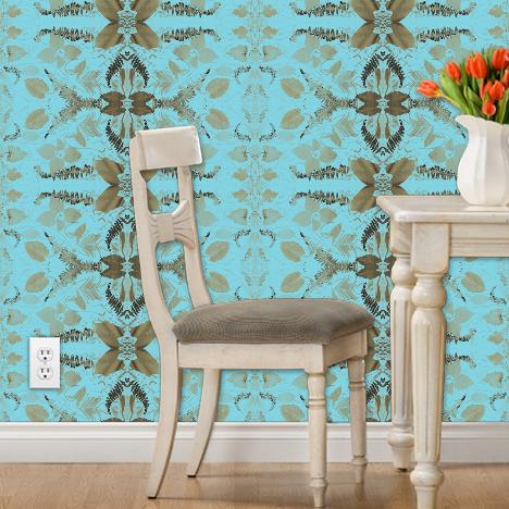 """Billie & Paula's"" Botanical Print Wallpaper"