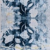 Organic Cotton Botanical Water Lily Custom Print Hand Stitched Face Mask