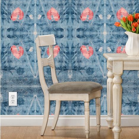 """""""Empress Blue Heart"""" Wallpaper"""