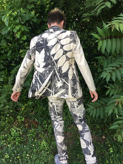 Botanical Printed Linen Suit