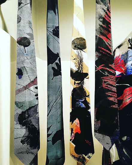 Botanical Mono-Printed Ties