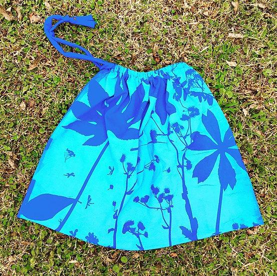 Snow Creek Botanical Drawstring Bag