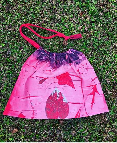 Wild at Heart Botanical Print Drawstring Bag