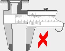 contraexemplo 2 – medição interna – objeto muito distante do cursor