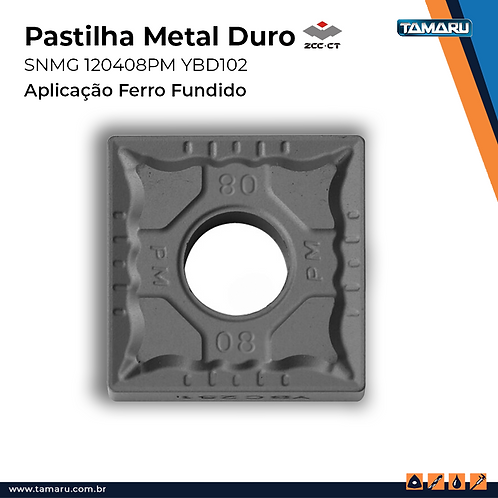 SNMG 120408-PM YBD102 p/ Ferro Fundido - Caixa c/ 10 Un.