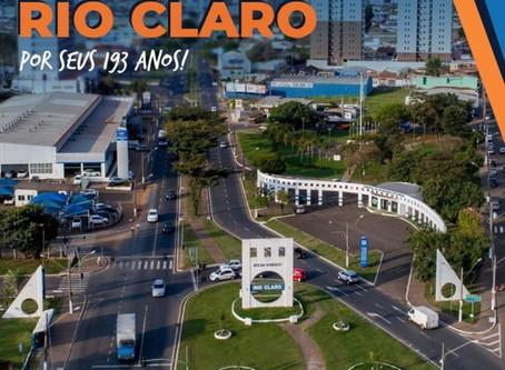 193 anos da Cidade Azul! Parabéns, Rio Claro!