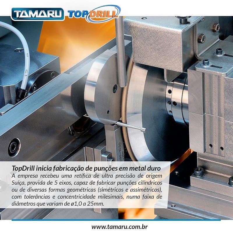Topdrill reafiação ferramentas de corte usinagem fabricação punção MD