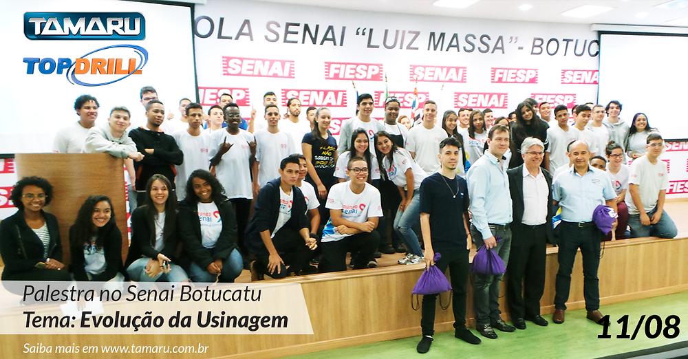 Senai Luiz Massa de Botucatu - SP recebe palestra sobre Evolução da Usinagem