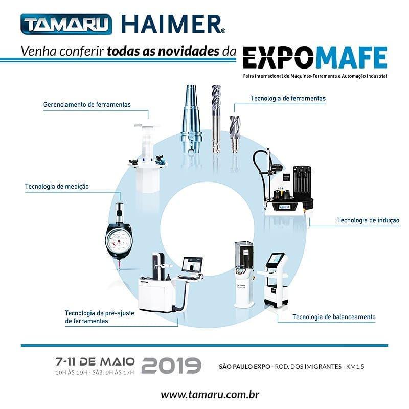 Tamaru Fluidos e Ferramentas para Usinagem Metrologia Fresas Expomafe Haimer