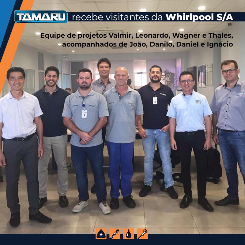 Equipe de projetos e desenvolvimento da Whirlpool S/A na Tamaru